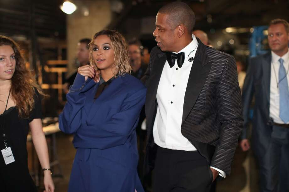 Singer Beyonce Knowles (L) and rapper Jay-Z attend the 56th GRAMMY Awards at Staples Center on January 26, 2014 in Los Angeles, California. Photo: Christopher Polk, Getty Images