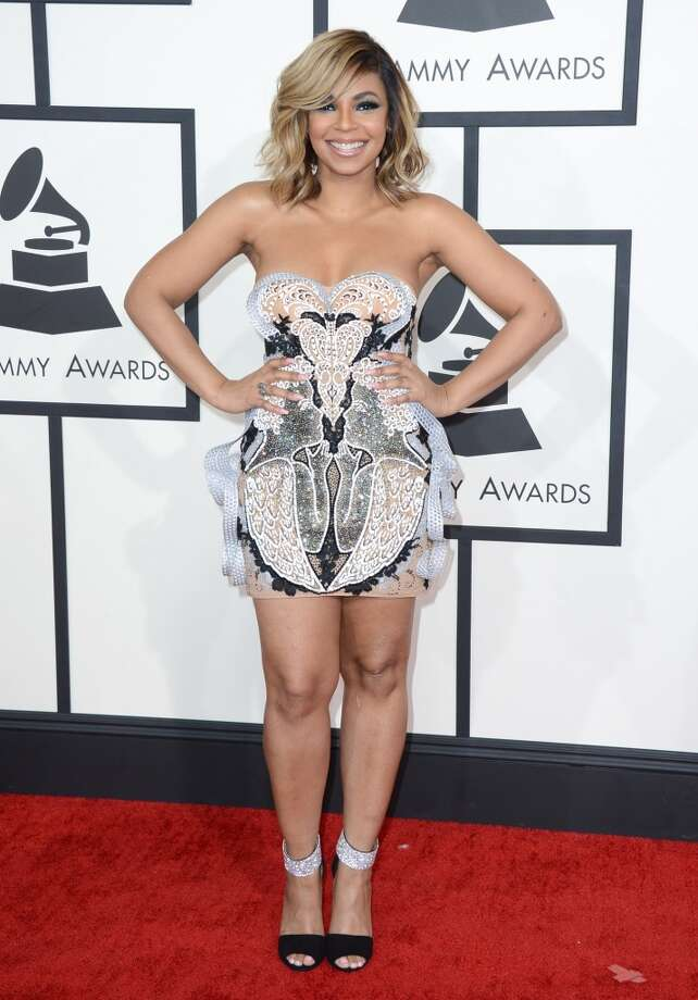 Ashanti arrives at the 56th annual Grammy Awards at Staples Center on Sunday, Jan. 26, 2014, in Los Angeles. Photo: Jordan Strauss, Associated Press