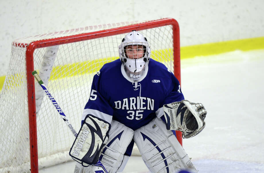 Darien's Christian Miller (35) in goal during the boys hockey game against Westhill High School at Terry Connors Rink in Stamford on Wednesday, Jan. 9, 2013. Photo: Amy Mortensen / Connecticut Post Freelance