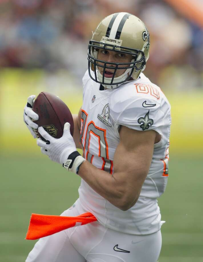Saints tight end Jimmy Graham (80), of Team Rice, makes a catch. Photo: Marco Garcia, Associated Press