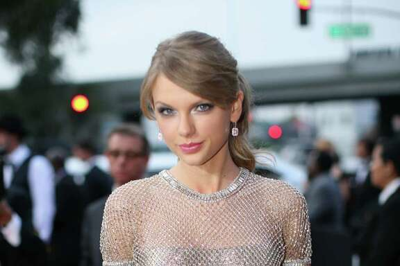 Taylor Swift shimmered in Gucci.