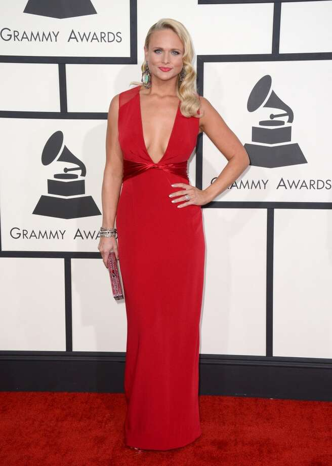Hit: Miranda Lambert's classic glamour fitted gown screams classy. (Photo by Jordan Strauss/Invision/AP) Photo: Jordan Strauss, Associated Press