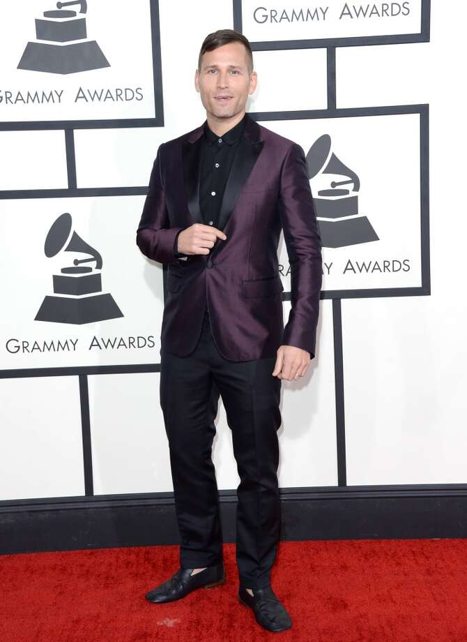 Hit: With a metallic plum jacket, Kaskade showed Grammy-worthy risk and sass, but stayed formal and gentlemanly.  (Photo by Jason Merritt/Getty Images) Photo: Jason Merritt, Getty Images