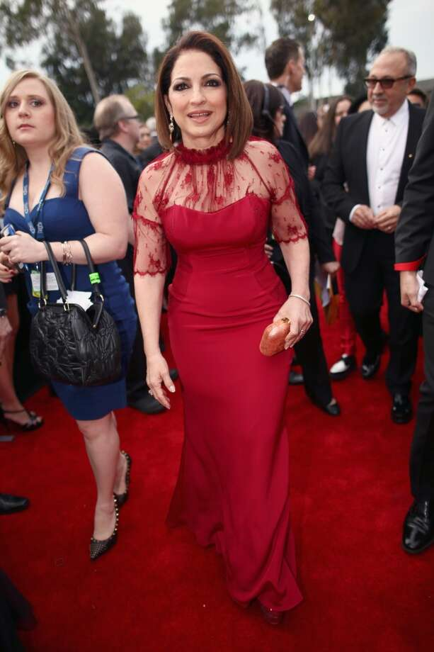 Miss: We know it almost seems disrespectful to criticize a legend, but Gloria Estefan's outfit looks dated.  (Photo by Christopher Polk/Getty Images for NARAS) Photo: Christopher Polk, Getty Images For NARAS