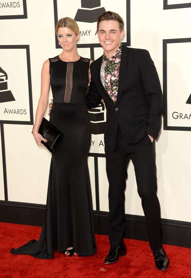 Hit: Jesse McCartney & Katie Peterson are classy, fun and sexy. These two win the couple award.  (Photo by Jason Merritt/Getty Images) Photo: Jason Merritt, Getty Images