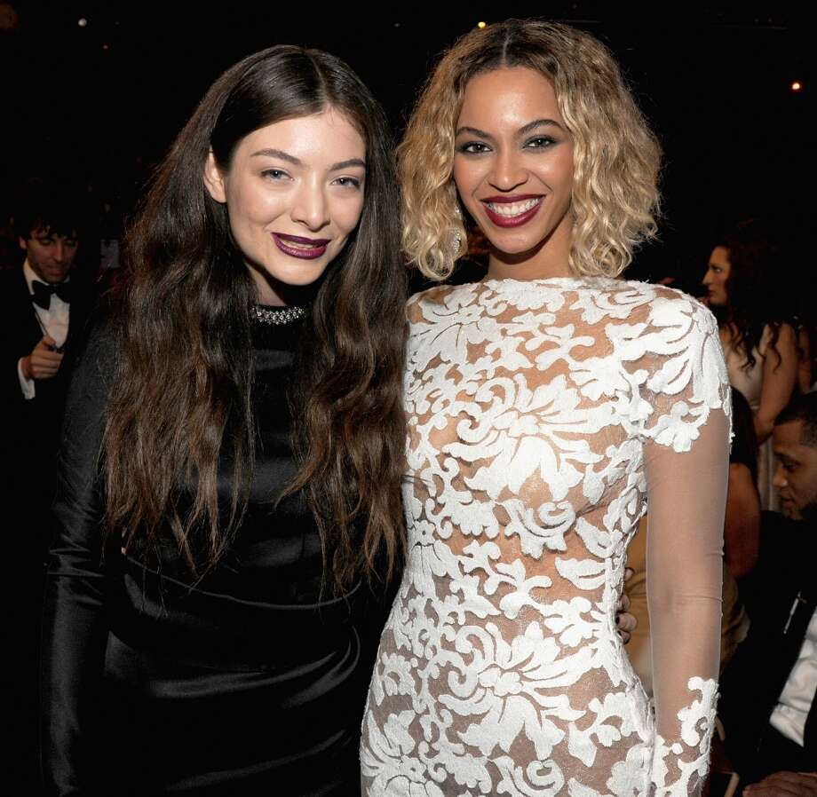 Lorde and Beyonce attends the 56th GRAMMY Awards at Staples Center on January 26, 2014 in Los Angeles, California. Photo: Kevin Mazur, WireImage