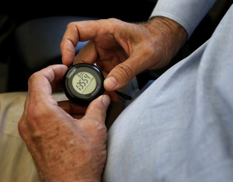 A study found that people who used a pedometer to count steps walked more. Photo: Paul Chinn, The Chronicle