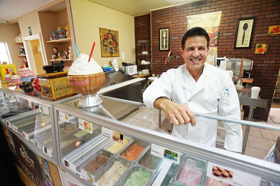 Owner and chef Rex harris stands behind the ice cream parlor at County Line Diner Wednesday. Harris has been running County Line Diner for the two years that it has been operating. Michael Rivera/@michaelrivera88   Photo Taken Wednesday, 01/15/14