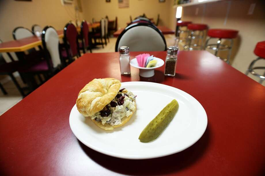 The most popular dish at County Line Diner restaurant is the chicken salad croissant. Michael Rivera/@michaelrivera88  Photo Taken Wednesday, 01/15/14