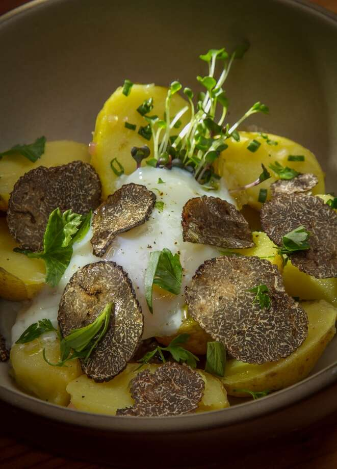 New Potatoes, Soft Cooked Egg  and Black Truffles at Penrose in Oakland. Photo: John Storey, Special To The Chronicle