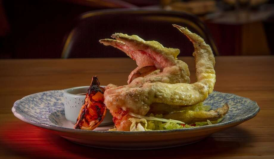 The tempura fried half Dungeness Crab at Penrose in Oakland. Photo: John Storey, Special To The Chronicle