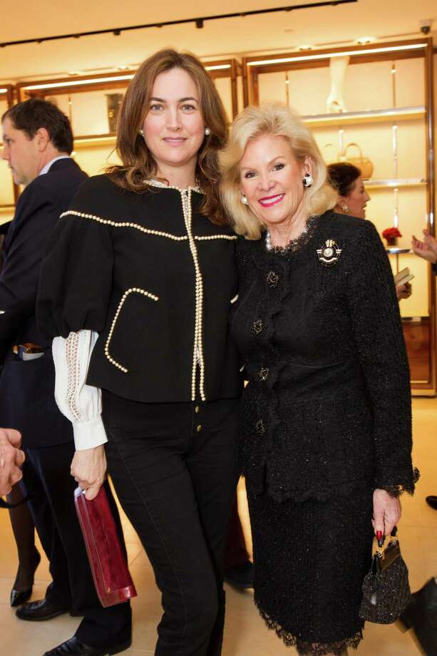 Alexis Traina and Dede Wilsey at the opening cocktail reception of the newly relocated Salvatore Ferragamo boutique in S.F. on January 23, 2014. Photo: Laura Morton For Drew Altizer, Drew Altizer Photography / Drew Altizer Photography