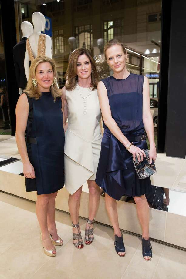 Kathryn Lasater, Carol Bonnie and Katie Traina at the opening cocktail reception of the newly relocated Salvatore Ferragamo boutique in S.F. on January 23, 2014. Photo: Drew Altizer, Drew Altizer Photography / Drew Altizer Photography