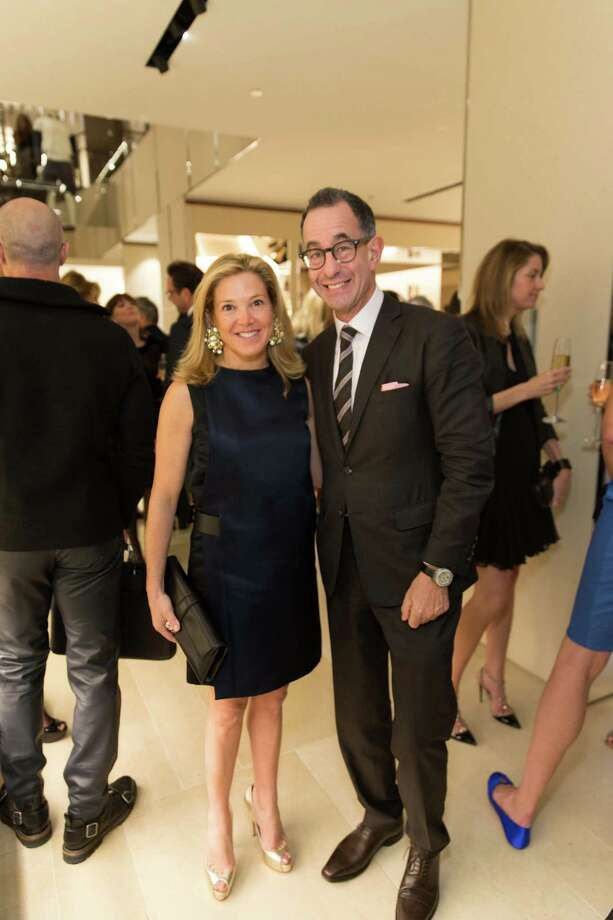 Kathryn Lasater and Colin Bailey at the opening cocktail reception of the newly relocated Salvatore Ferragamo boutique in S.F. on January 23, 2014. Photo: Drew Altizer, Drew Altizer Photography / ©2014 by Drew Altizer all rights reserved