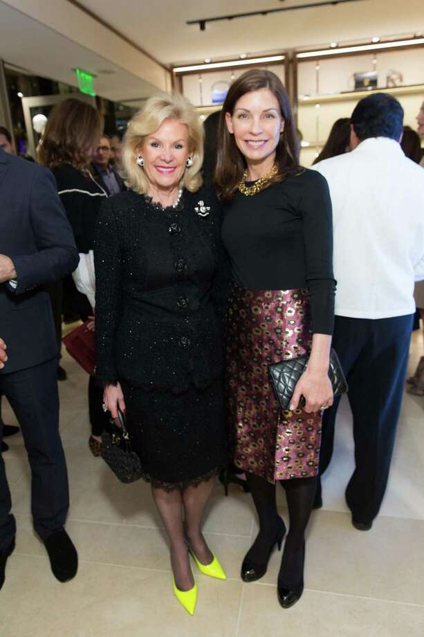 Dede Wilsey and Lisa Zanze at the opening cocktail reception of the newly relocated Salvatore Ferragamo boutique in S.F. on January 23, 2014. Photo: Drew Altizer, Drew Altizer Photography / ©2014 by Drew Altizer all rights reserved