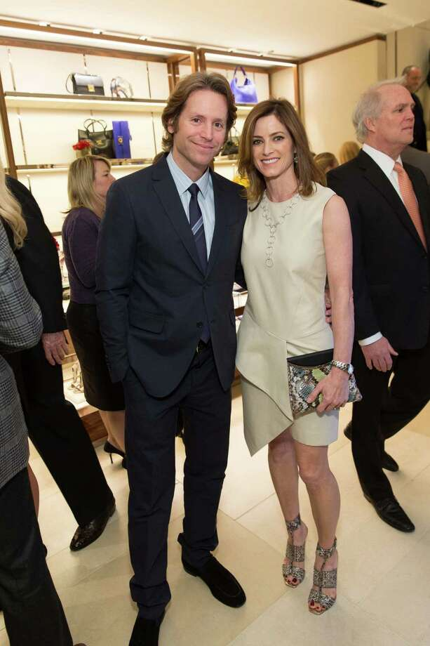 Trevor Traina and Carol Bonnie at the opening cocktail reception of the newly relocated Salvatore Ferragamo boutique in S.F. on January 23, 2014. Photo: Drew Altizer, Drew Altizer Photography / ©2014 byDrew Altizer all rights reserved