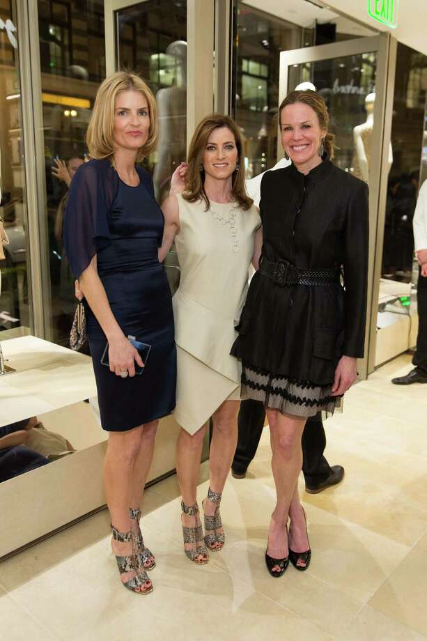 Vandy Boudreau, Carol Bonnie and Leslie Thieriot at the opening cocktail reception of the newly relocated Salvatore Ferragamo boutique in S.F. on January 23, 2014. Photo: Drew Altizer, Drew Altizer Photography / ©2014 byDrew Altizer all rights reserved