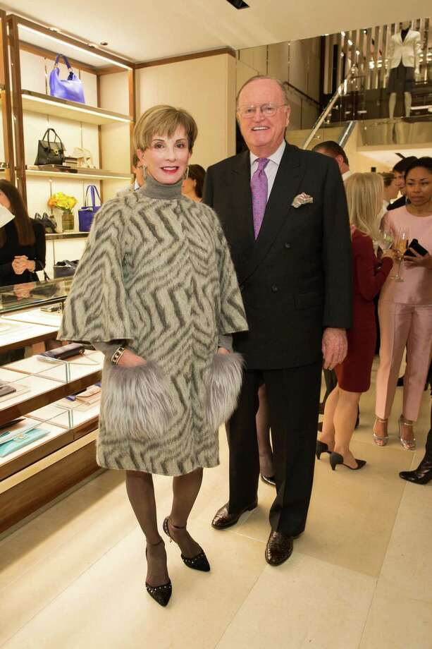 Urannia Ristow and Bruno Ristow at the opening cocktail reception of the newly relocated Salvatore Ferragamo boutique in S.F. on January 23, 2014. Photo: Drew Altizer, Drew Altizer Photography / ©2014 byDrew Altizer all rights reserved