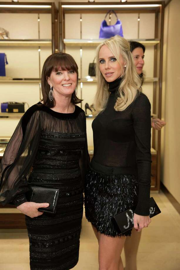 Allison Speer and Vanessa Getty at the opening cocktail reception of the newly relocated Salvatore Ferragamo boutique in S.F. on January 23, 2014. Photo: Drew Altizer, Drew Altizer Photography / ©2014 by Drew Altizer all rights reserved