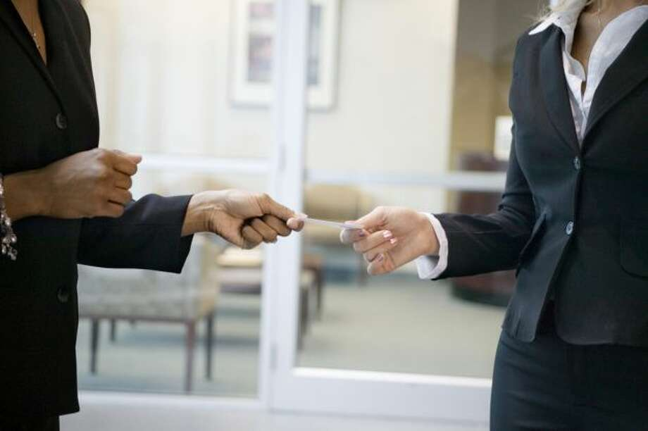 10. Collect business cardsRequest a business card from everyone you meet. You never know who will be a great contact in the future, even if they don't have any positions currently. (Photo: Getty Images) Photo: Getty Images