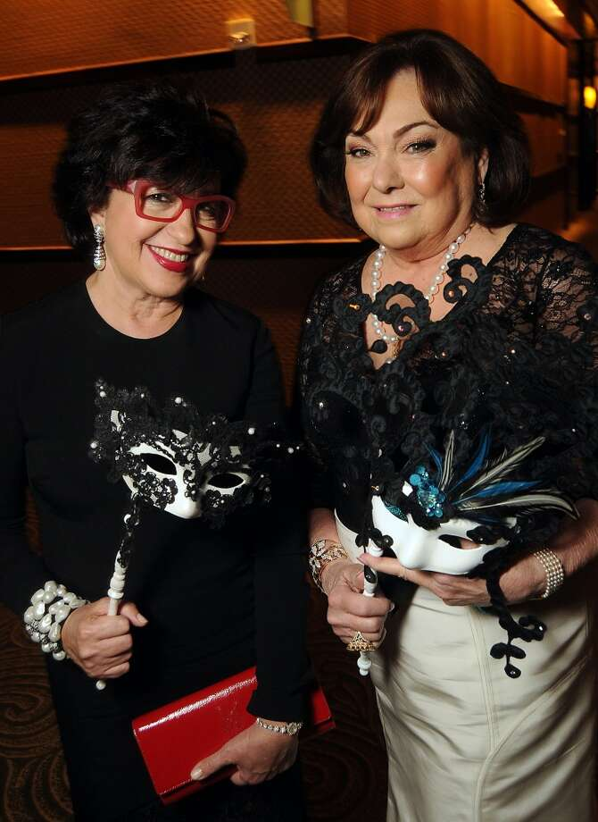Women of Distinction Roz Pactor and Rose Cullen at the Carnevale di Venezia Winter Ball  benefitting the Crohn's and Colitis Foundation at the Hilton Americas Hotel Saturday  Jan 25, 2014.(Dave Rossman photo) Photo: Dave Rossman, For The Houston Chronicle