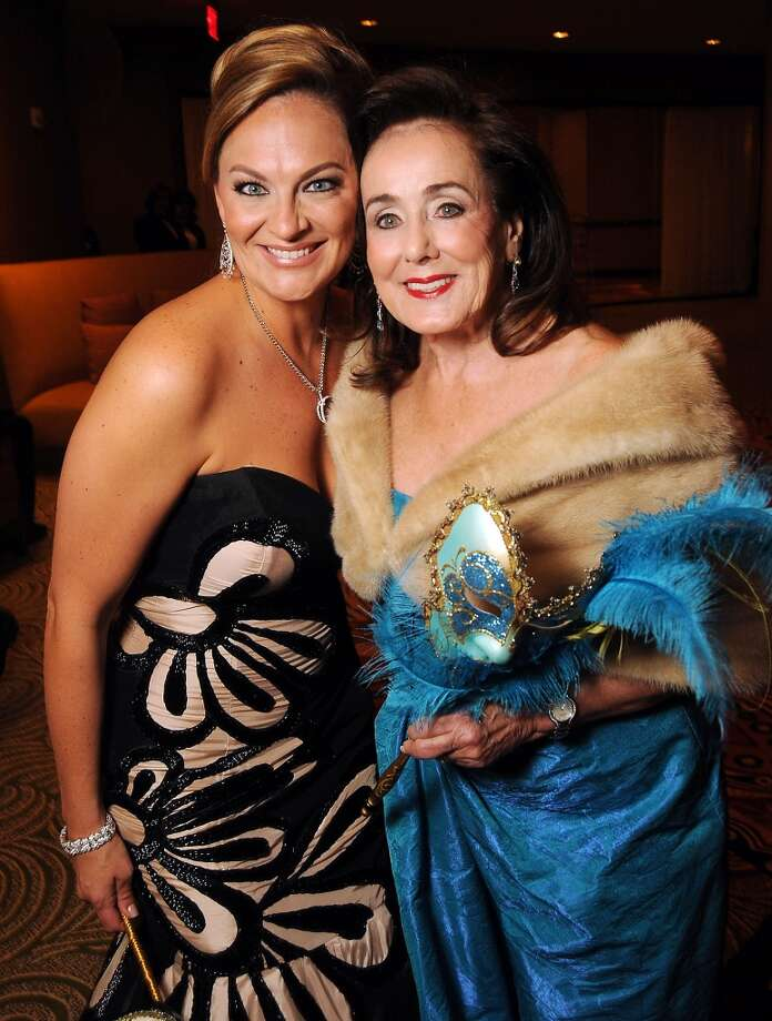 Women of Distinction Rachel Regan with honorary chair Betty Tutor at the Carnevale di Venezia Winter Ball  benefitting the Crohn's and Colitis Foundation at the Hilton Americas Hotel Saturday  Jan 25, 2014.(Dave Rossman photo) Photo: Dave Rossman, For The Houston Chronicle