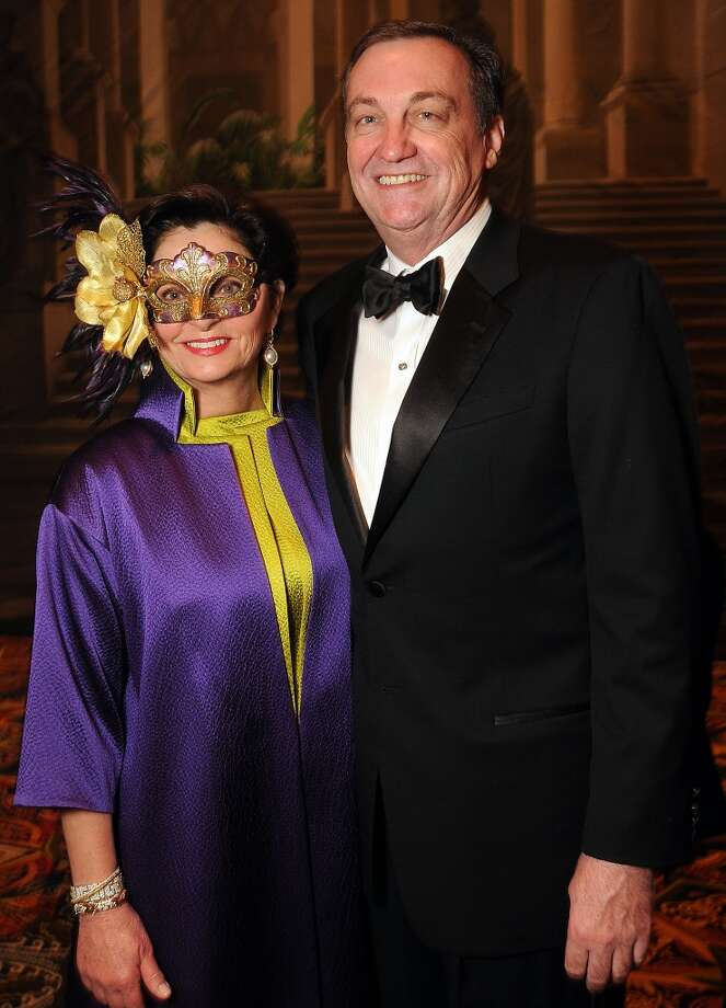 Women of Distinction Beth Madison and Ralph  Burch at the Carnevale di Venezia Winter Ball  benefitting the Crohn's and Colitis Foundation at the Hilton Americas Hotel Saturday  Jan 25, 2014.(Dave Rossman photo) Photo: Dave Rossman, For The Houston Chronicle