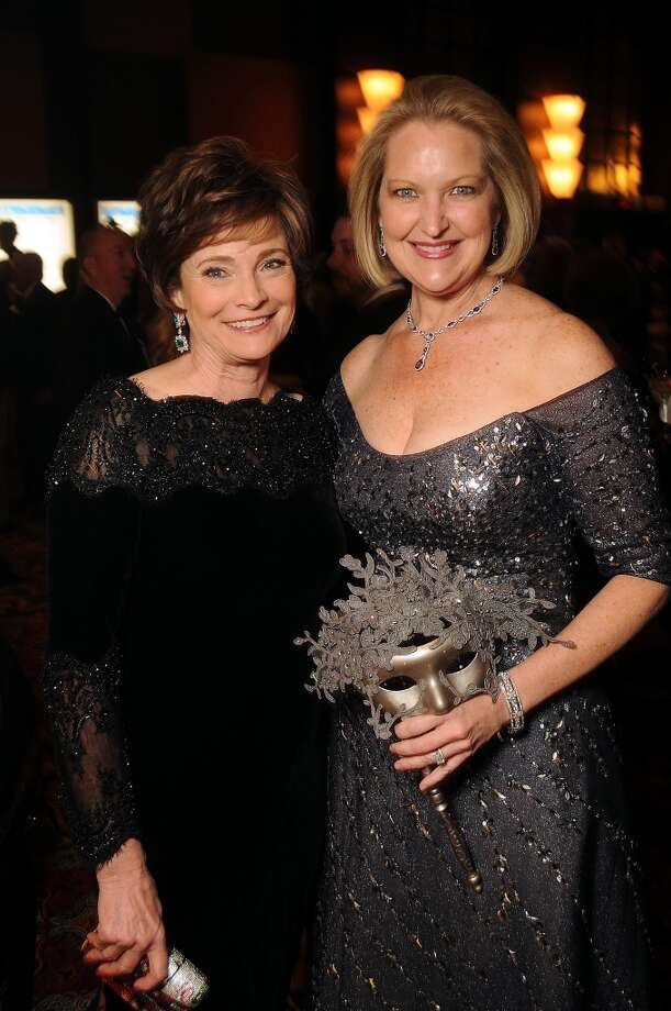 Women of Distinction Bobbie Nau and Joella Mach at the Carnevale di Venezia Winter Ball  benefitting the Crohn's and Colitis Foundation at the Hilton Americas Hotel Saturday  Jan 25, 2014.(Dave Rossman photo) Photo: Dave Rossman, For The Houston Chronicle