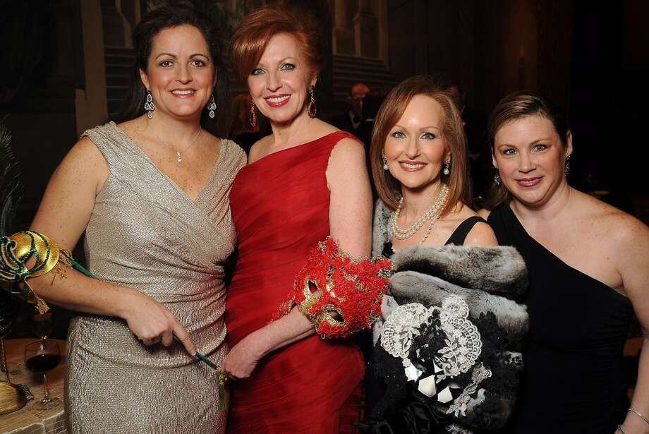 From left: Shelley Cooper, woman of distinction Nancy Strohmer, Carol Sawyer and Margi Strohmer at the Carnevale di Venezia Winter Ball  benefitting the Crohn's and Colitis Foundation at the Hilton Americas Hotel Saturday  Jan 25, 2014.(Dave Rossman photo) Photo: Dave Rossman, For The Houston Chronicle