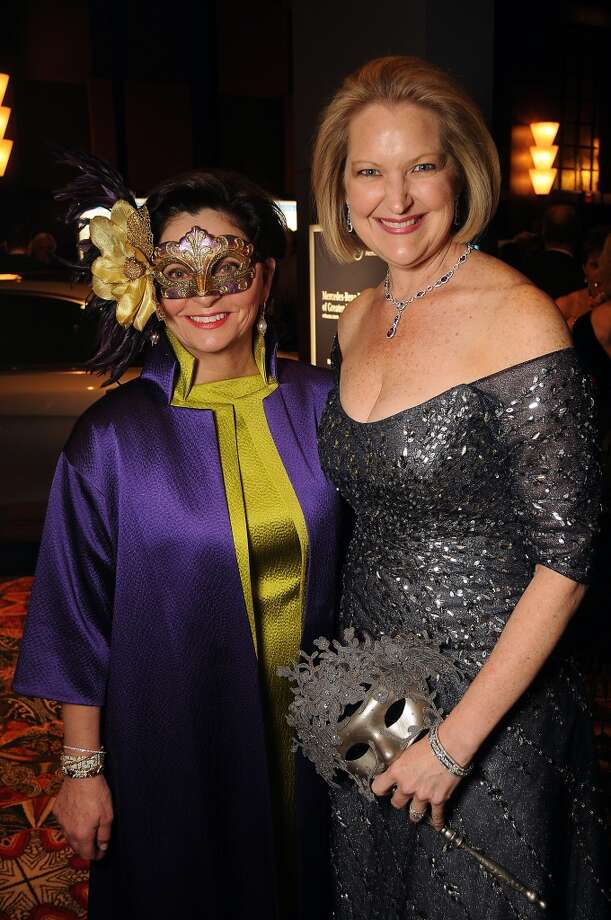 Women of Distinction Beth Madison and Joella Mach at the Carnevale di Venezia Winter Ball  benefitting the Crohn's and Colitis Foundation at the Hilton Americas Hotel Saturday  Jan 25, 2014.(Dave Rossman photo) Photo: Dave Rossman, For The Houston Chronicle