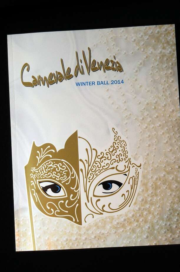The program at the Carnevale di Venezia Winter Ball  benefitting the Crohn's and Colitis Foundation at the Hilton Americas Hotel Saturday  Jan 25, 2014.(Dave Rossman photo) Photo: Dave Rossman, For The Houston Chronicle