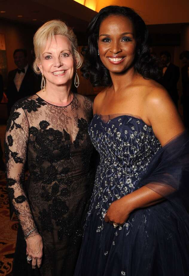 Women of Distinction Jane-Page Crump and Winell Herron at the Carnevale di Venezia Winter Ball  benefitting the Crohn's and Colitis Foundation at the Hilton Americas Hotel Saturday  Jan 25, 2014.(Dave Rossman photo) Photo: Dave Rossman, For The Houston Chronicle