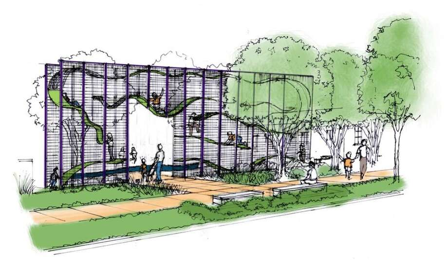 A conceptual drawing of one of Yanaguana Gardens' entrances. Photo: Hemisfair, Courtesy