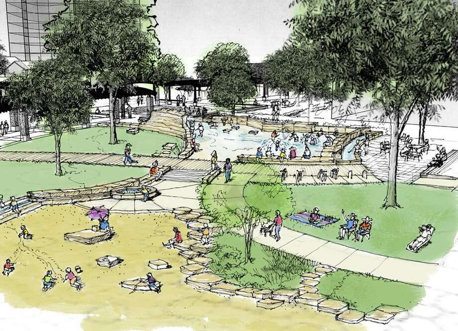 A conceptual drawing of Yanaguana Gardens previously released by Hemisfair. Photo: Hemisfair, Courtesy