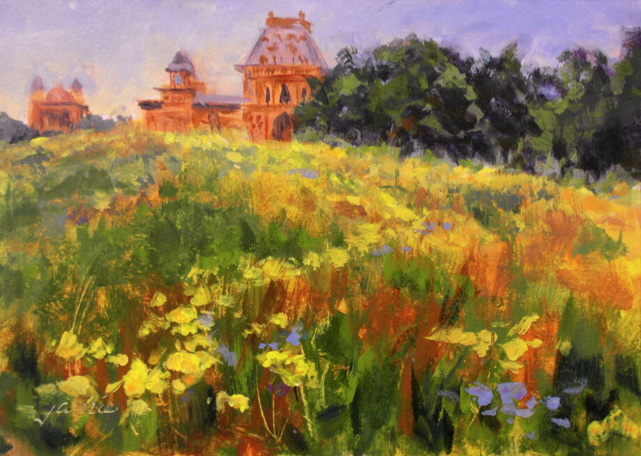 Golden Flowers at Olana, by Jamie Williams Grossman (Olana State Historic Site)
