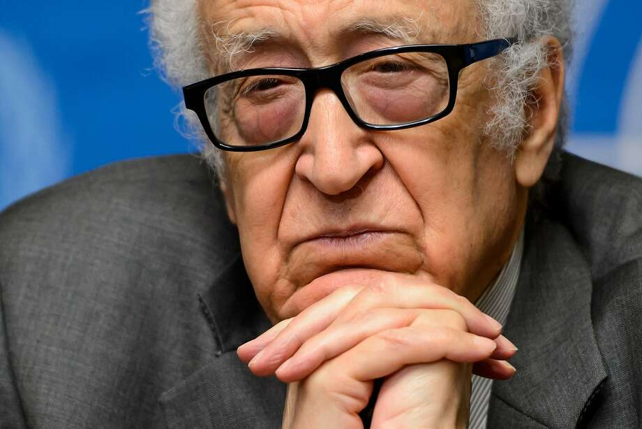"U.N. mediator Lakhdar Brahimi said both sides in Syria have been talking to the media ""too much."" Photo: Fabrice Coffrini, AFP/Getty Images"