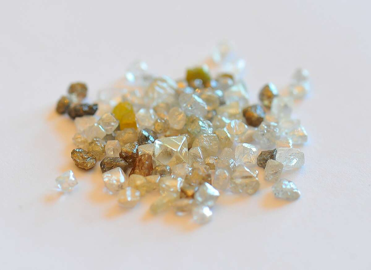 San Francisco's Padis Jewelry hosted an event for Forevermark Diamonds in San Francisco in December, 2013, to explain the company's dedication to quality and sustainability. Guests were able to sort through a pile of raw diamonds just like this.