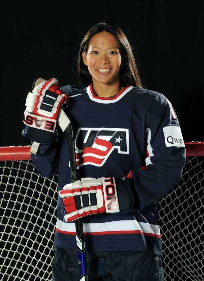 BLAINE, MN - AUGUST 25:  Julie Chu of the U.S. Women's National Hockey Team poses for a portrait on August 25, 2009 at the National Sports Center in Blaine, Minnesota.  (Photo by Tom Dahlin/Getty Images) Photo: Tom Dahlin, Getty Images / 2009 Getty Images