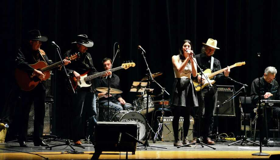 Gunsmoke, a Nashville-recording and Darien-based, class country band were the last to perform at Music for Hope, a fundraiser that took place at Darien High School on Saturday, Jan. 25. The money raised was donated to cancer research. Photo: Megan Spicer / Darien News