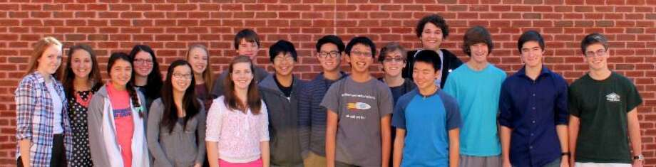 This photo provided by Friendswood High School shows 17 students who qualified for All-State Band. Photo: Provided By Friendswood High School