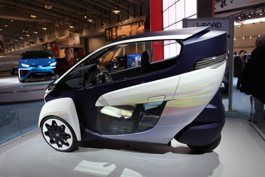 The Toyota i-Road concept is dislplayed during the Washington Auto Show in Washington, DC. (Photo by Basri Sahin/Anadolu Agency/Getty Images) Photo: Anadolu Agency, Getty Images
