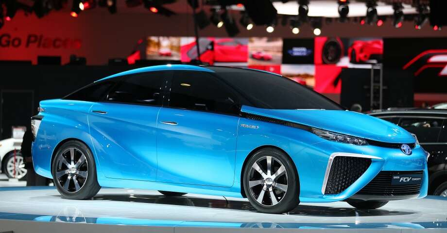 The Toyota FCV concept at  the  North American International Auto Show at Kobo Center in Detroit. (Steve Russell/Toronto Star via Getty Images) Photo: Steve Russell, Toronto Star Via Getty Images