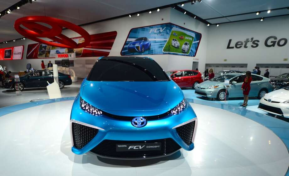 The Toyota FCV Concept attracts attention during the 2014 North American International Auto Show in Detroit, Michigan. (Photo by Cem Ozdel/Anadolu Agency/Getty Images) Photo: Anadolu Agency, Getty Images