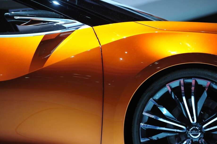 Detail view of the right side of the Nissan Sports Sedan concept vehicle unveiled during a press preview at the North American International Auto Show in Detroit. (STAN HONDA/AFP/Getty Images) Photo: STAN HONDA, AFP/Getty Images