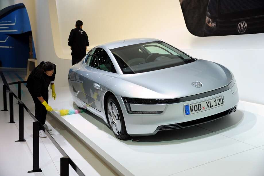 The Volkswagen  XL1 is presented during the 92nd Brussels Motor Show in Brussels, Belgium. (Photo by Dursun Aydemir - Anadolu Agency) Photo: Anadolu Agency, Getty Images
