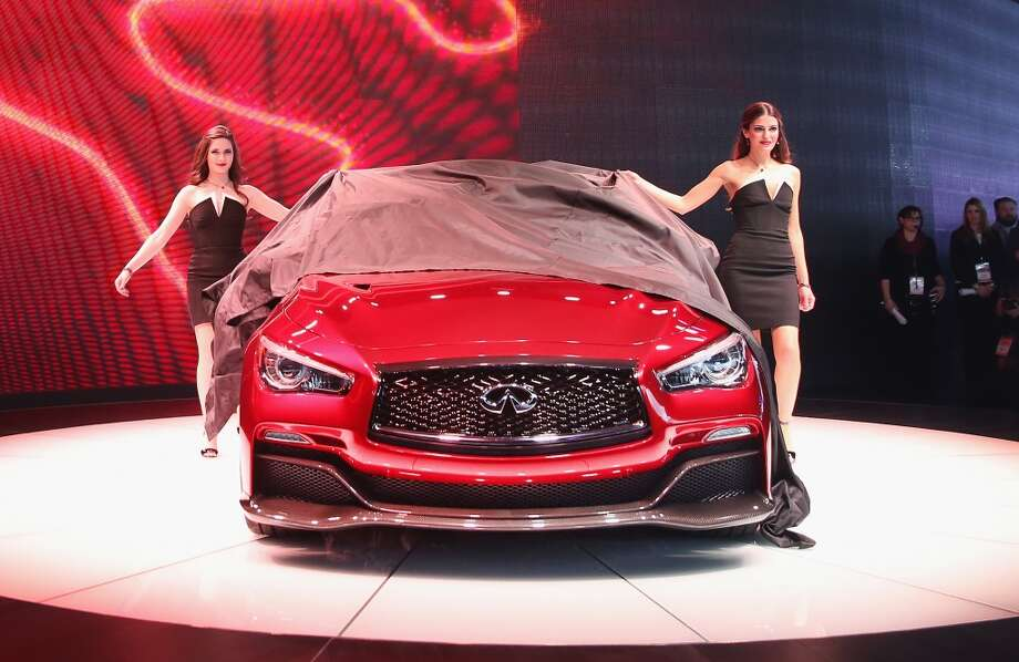 Infiniti introduces the Q50 Eau Rouge concept car at the North American International Auto Show (NAIAS) in Detroit, Michigan. (Photo by Scott Olson/Getty Images) Photo: Scott Olson, Getty Images