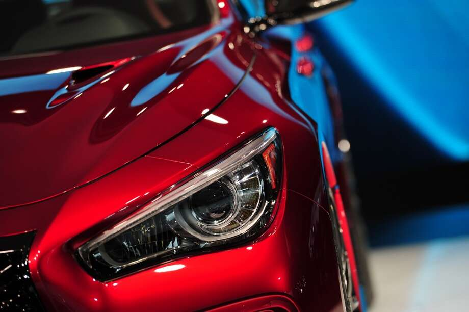 Detail of the Infiniti Q50 Eau Rouge as it is unveiled during a press preview at the North American International Auto Show in Detroit, Michigan. (STAN HONDA/AFP/Getty Images) Photo: STAN HONDA, AFP/Getty Images