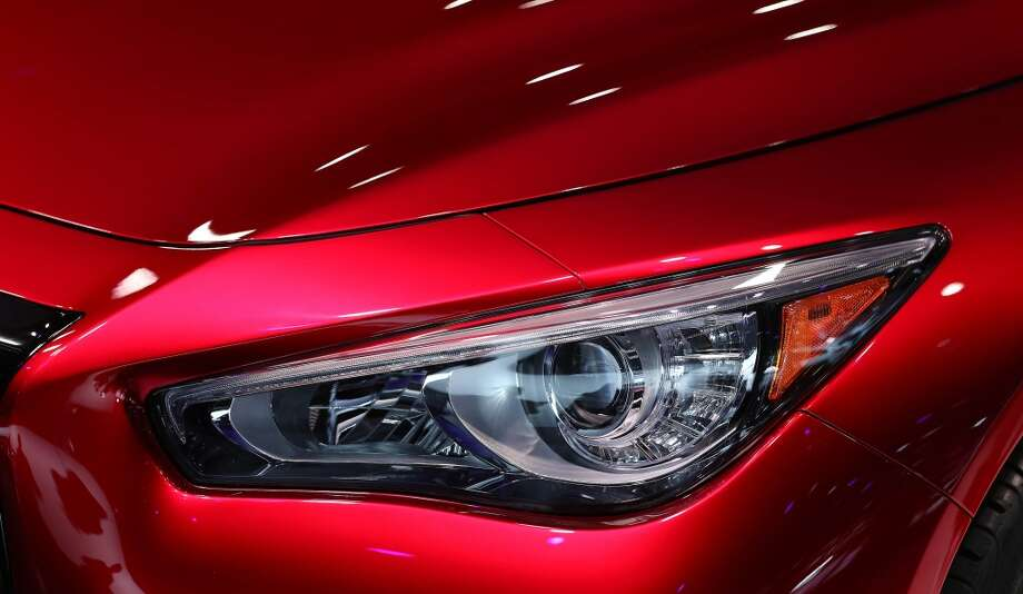 The angry eyes/headlights of the Infiniti Q50 Eau Rouge at the North American International Auto Show in Detroit. (Steve Russell/Toronto Star via Getty Images) Photo: Steve Russell, Toronto Star Via Getty Images