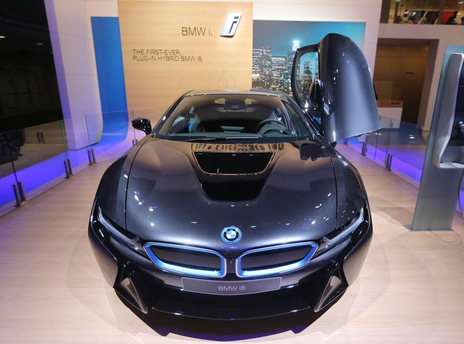 The BMW i8 hybrid concept at  the North American International Auto Show in Detroit. (Steve Russell/Toronto Star via Getty Images) Photo: Steve Russell, Toronto Star Via Getty Images