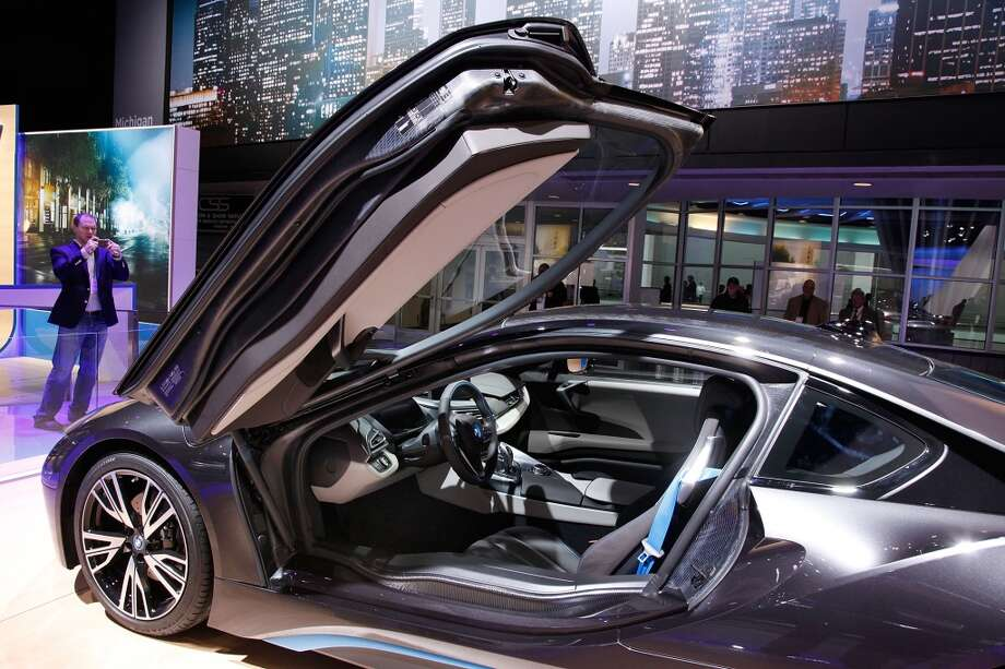 The electric BMW concept at the 2014 North American International Auto Show in Detroit, Michigan.(Photo by Patrick Aventurier/Getty Images) Photo: Patrick Aventurier, Getty Images